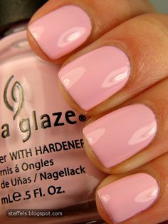 "China Glaze ""something sweet""...LOVE this color! Using a charcoal gray to accentuate would really make this pink POP!"