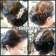 Wedding updo #sandreezzy #hairninja #salon2324