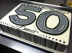 50th birthday sheet cake - white flower cake shoppe