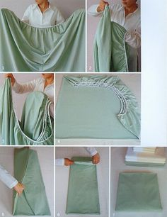 How to fold a fitted sheet - I need this printed off, laminated and hanging in our linnen closet! I can never remember how to fold those darn things!...lol http://media-cache1.pinterest.com/upload/132082201541055391_VNpauilU_f.jpg mcgeechels organization tips tricks