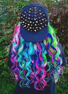 Beautiful and colorful hair - Schöne haare - Cheveux Femme Cute Hair Colors, Pretty Hair Color, Beautiful Hair Color, Hair Dye Colors, Rainbow Hair Colors, Pastel Rainbow Hair, Beautiful Braids, Beautiful Beautiful, Pelo Multicolor