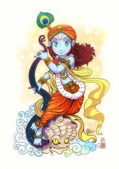 Sri Krishna by In-Sine on DeviantArt Radha Krishna Images, Cute Krishna, Lord Krishna Images, Radha Krishna Photo, Krishna Radha, Krishna Pictures, Radha Rani, Krishna Drawing, Krishna Painting
