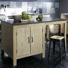 Ilot Central En Pin Recycle L145 Maisons Du Monde Table Pine