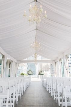 All White Wedding - Tent style