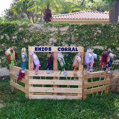 Horse Birthday Party Corral Idea. Pallets? Check out shop at www.etsy.com/shop/SEWnSoHandmade