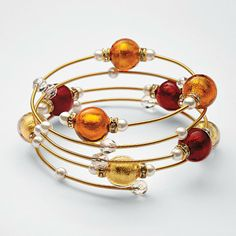 Red Envelope / Murano Glass Bead Bracelet / Nice Craft Project (50)