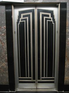art deco elevator doors