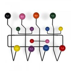 Eames Style Black Hang It All