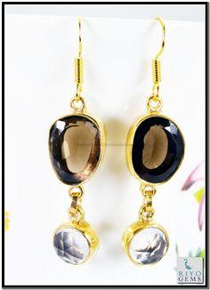 Pearl Emerald Cz Gemstone 18kt Gold Plating Earrings L 1.5in Gpemul-5248 http://www.riyogems.com