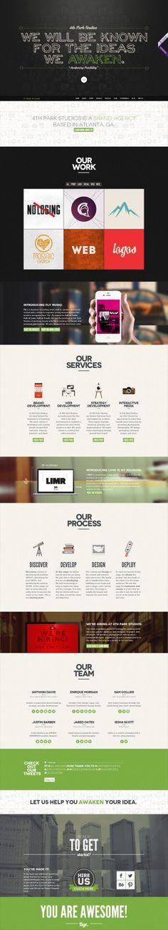 4th Park Studios Website by 4THPARK (via Creattica)