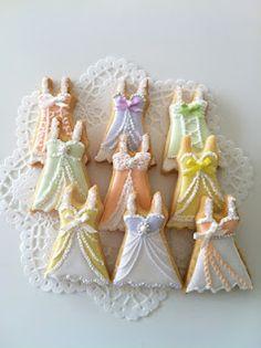 C.bonbon- Lingerie shower cookies- so pretty!