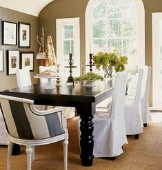 1000 Images About Dining Room Chair Covers On Pinterest