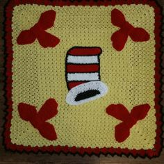 New idea for a dear friends new grandbaby. Was told they were doing a Dr. Seuss theme with light yellow accents. Here's what I came up with.