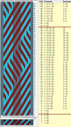 Diagonal 24 tarjetas, 3 colores, repite cada 36 movimientos // sed_656  diseñado en GTT༺❁