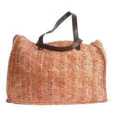 Straw Beach Bag, Straw bag, Straw Bag with leather straps,Summer Bag,Trendy bag,Basket,Handmade,Hip bag on Etsy, $32.95
