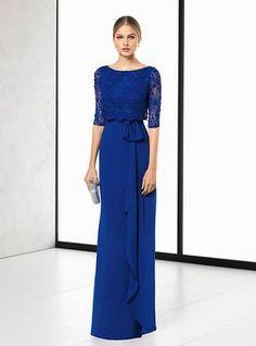 Vestido madrina de boda azul 2018