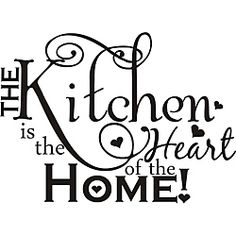 @Overstock.com - 'The Kitchen is the Heart of the Home' Vinyl Art - Your family spends hours gathered in the kitchen every week, and with this classic vinyl art, you can show them how you feel. The vinyl piece installs easily, and it adheres to different surfaces, including wood cabinets and tiled walls.  http://www.overstock.com/Home-Garden/The-Kitchen-is-the-Heart-of-the-Home-Vinyl-Art/6296163/product.html?CID=214117 $37.49