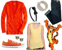 Tigger inspired outfit from Disney Winnie the Pooh