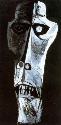La espera nº 11. 1968-69. Óleo sobre tela. 200 x 100 cm. La Edad de la Ira. Colección Fundación Guayasamín. Quito. Ecuador