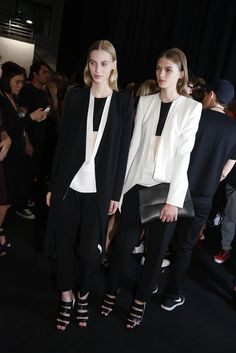 Backstage at Narciso Rodriguez RTW Spring 2013