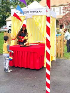 The Chicken Fling at a Kidsmart party.