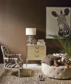 Animal prints room