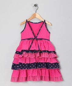Take a look at this New Jersey-Designed Pink Viviene Dress - Girls by Sophie Catalou on #zulily today!