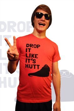 Drop It Like It's Hutt Fitted Tee - Unisex - Handprinted - Ringspun Cotton - Red.  via Etsy.