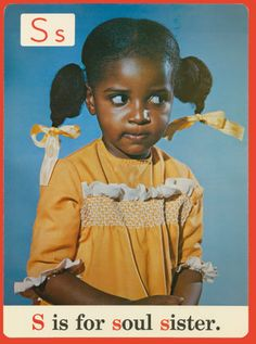 Chicago Public School alphabet card given out in the 1970s -