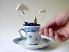 I adore this. It makes me want to write a little story about tiny people braving a storm on a tiny ship in a tea cup.