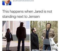 Image shared by Léa. Find images and videos about supernatural, Jensen Ackles and jared padalecki on We Heart It - the app to get lost in what you love. Jared Padalecki, Misha Collins, Supernatural Actors, Supernatural Quotes, Castiel, Spn Memes, A Silent Voice, Super Natural, Sam Winchester