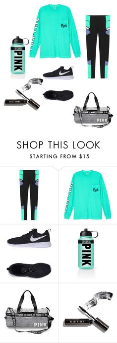 """Untitled #4"" by morgan4411 ❤ liked on Polyvore featuring Victoria's Secret, NIKE, Victoria's Secret PINK and Bobbi Brown Cosmetics"