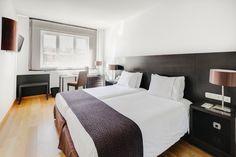 Habitación standard con dos camas en #Rafaelhoteles #Atocha