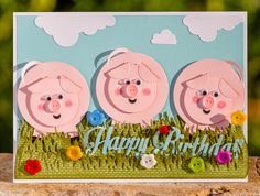 Card with piglets