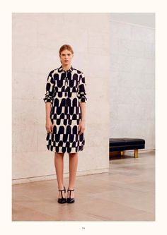 ISSUU - Marimekko 2015 Autumn Ready to Wear Lookbook by Marimekko Marimekko Dress, Autumn Winter Fashion, Fashion Fall, Dressing, Black White Fashion, Fashion 2017, Beautiful Outfits, Fall Outfits, Ready To Wear