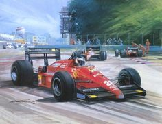 1988 Italian GP Monza Berger and Alboreto