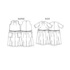 The Ellis & Hattie Dress sewing pattern by Merchant and Mills, gives you two dresses for the price of one! Ellis has a more feminine fit & Hattie is drop waisted, both feature four decorative neck darts. Merchant And Mills, Shirt Dress Pattern, Cocoon Dress, Dress Making Patterns, Bespoke Tailoring, Sewing Blogs, Couture, Fashion Fabric, Dressmaking