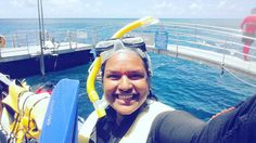 This is the giant smile of a girl who just snorkelled the Great Barrier Reef and will never forget it for the rest of her life!  #GreatBarrierReef #Queensland #australia #gbr #agincourtreef #unforgettable #donttelldad by thetarabee http://ift.tt/1UokkV2