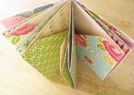 Folded pocket mini book - http://craftideas.bitchinrants.com/folded-pocket-mini-book/