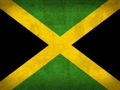 Jamaica Flag Vintage Distressed Finish Mixed Media