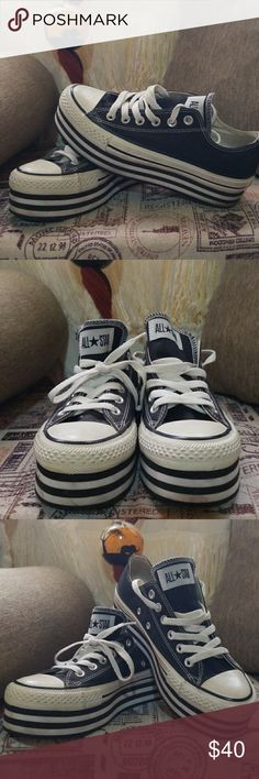 Converse Platform converse creepers! One of a kind, bought this last year and only wored once this are sample made kicks. Size 5 unisex Converse Shoes Sneakers