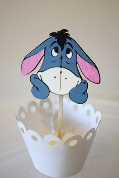 Eeyore Party Topper 4th Birthday Parties, Happy Birthday Banners, Birthday Decorations, 2nd Birthday, Birthday Ideas, Mesas Para Baby Shower, Winnie The Pooh Friends, Eeyore, Sweet 16