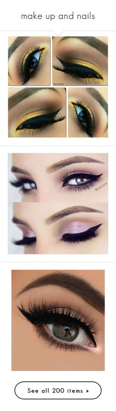 """""""make up and nails"""" by meddy21 ❤ liked on Polyvore featuring beauty products, makeup, eye makeup, eyes, beauty, lip makeup, lipstick, lips, boca and glossy lipstick"""