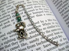 Mouse bookmark beaded bookmark crystal by THWoodlandCreatures