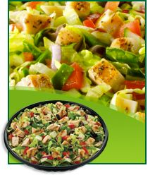 Best Salads at Subway Right! Cold Cut Combo Salad with Vinegar  1 salad: 190 calories, 11g fat, 820mg sodium, 12g carbs, 4g fiber, 5g sugars, 12g protein -- PointsPlus® value 5*   Chicken's not the only smart option on a Subway salad. This sandwich-inspired selection is topped with ham, salami, and bologna... all turkey based! A splash of vinegar seals the deal.