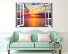 Upgrade your living space with one of these stunning, high quality 3D vinyl window decals. Give yourself a room with view of your choice with some instant wall art. #tilestickers #kitchentilestickers #bathroomtilestickers #fireplacetilestickers #backsplashtilestickers #walldecorstickers #murals #wallmurals #walltilestickers #homedecor #stairtilestickers #wallstickers #decals #decalstickers