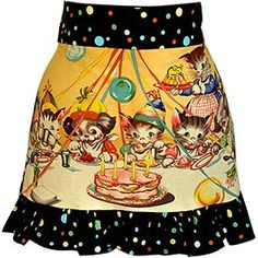 I don't see wearing an apron as female oppression - I like them and they are practical!