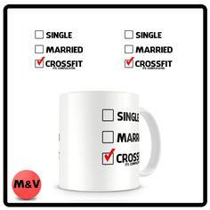 Crossfit single, married, crossfit mug
