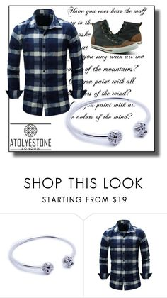 """Atolyestone 40"" by minka-989 ❤ liked on Polyvore featuring Burnetie, men's fashion, menswear and atolyestone"