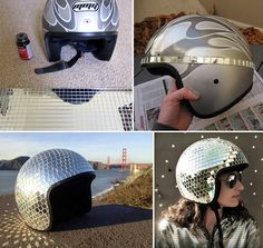 How to Make Disco Ball Helmet - DIY & Crafts - Handimania